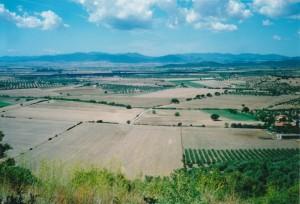 La valle dell'Ombrone