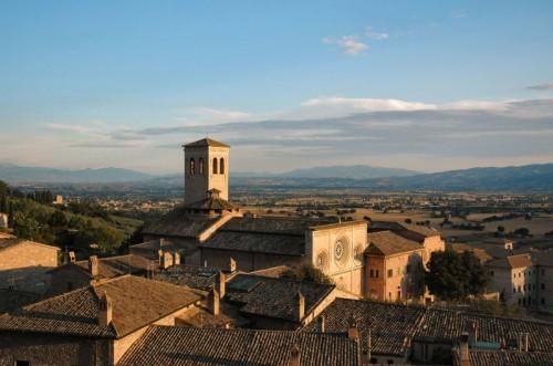 Assisi - tramonto sulla città