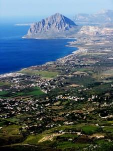 Monte Cofano e panorama sul mare