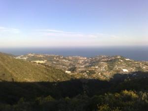 Panorama da Bussana Vecchia a Poggio (IM)