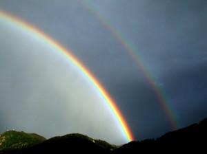 Arcobaleno sopra Recoaro Mille e Monte Spitz