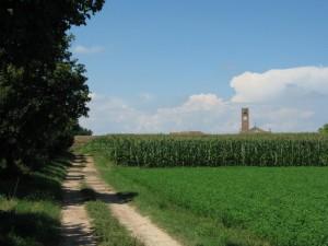 Torre e tetti di Libiola.