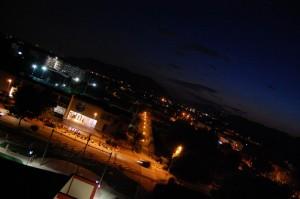 Panorama notturno dalla Torre del Sole