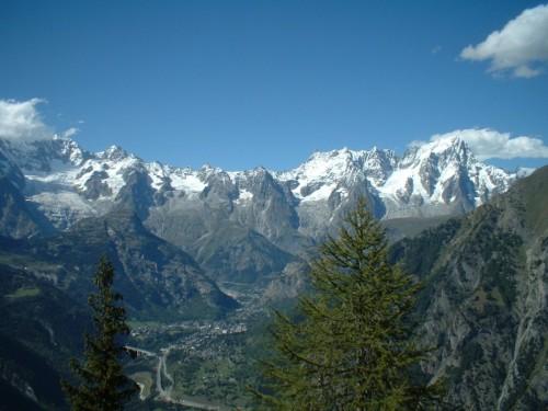 Aosta - Vista Monte Bianco