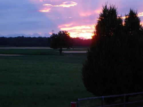 Lazzate - tramonto a lazzate