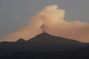 L'Etna visto al tramonto