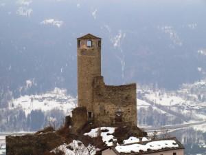 castello di chatelard sotto la neve