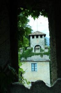 veduta dalla dinestra della torre del casl campo