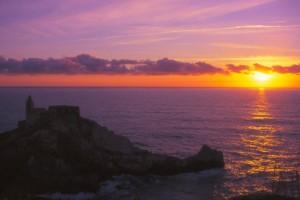 tramonto su portovenere