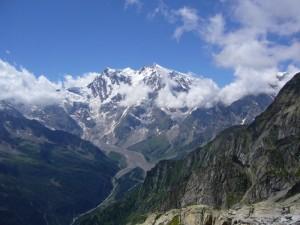 Il monte Rosa dal monte Moro