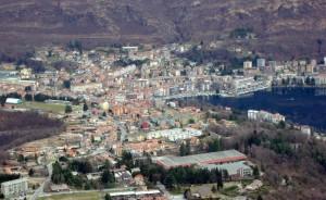 Panorama della città di Omegna