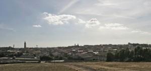 Panorama in controluce di Solarussa.