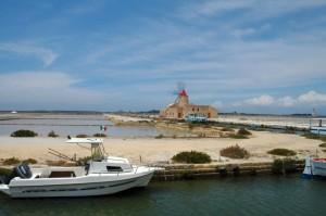 Imbarco per Mozia in località Isole dello Stagnone