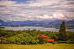 Lago di Varese dal belvedere di Azzate (VA)