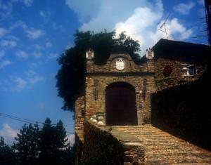 entrata del castello di compiano