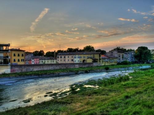 Parma - tramonto sul fiume