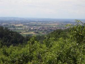 Castellar Guidobono visto dalla collina