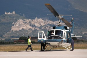 Aeroporto PG con vista su Assisi