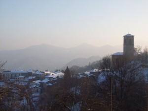 Panorama invernale di Ailoche visto da Uccelli