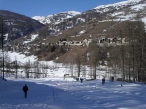 panorama invernale Pragelato