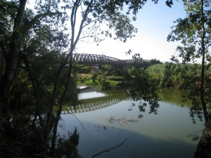 panorama sul fiume tirso