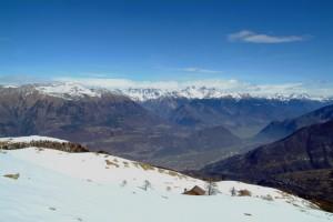Le pendici della Rosetta e per sfondo la valle