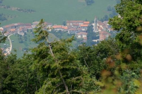 Valdastico - Pedescala di Valdastico visto dal Forte Corbin.