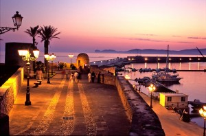 Il Porto di Alghero al tramonto