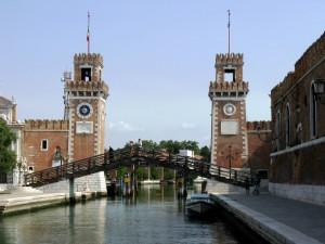 Le torri dell'arsenale militare di Venezia