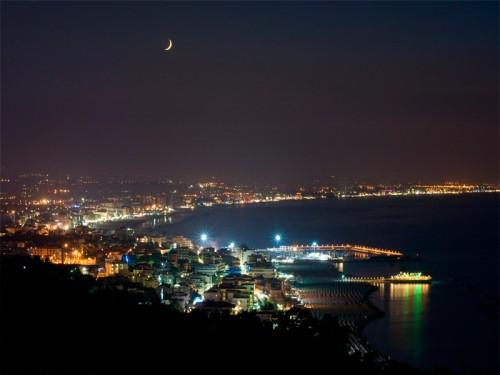 Gabicce Mare - panorama di Gabicce Mare  vista da Gabicce monte  di notte