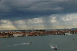 Venezia risveglio sotto il temporale