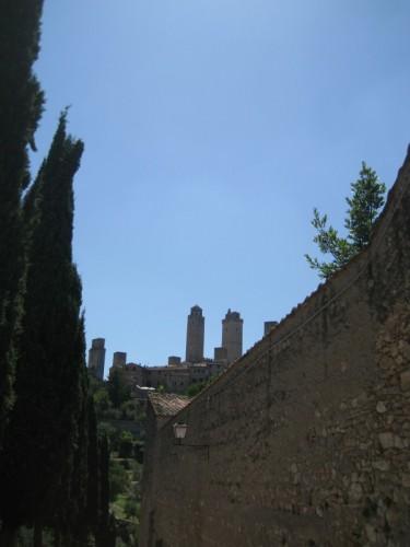 San Gimignano - lassù in alto