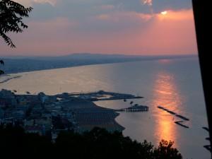 tramonto su Gabbice Mare