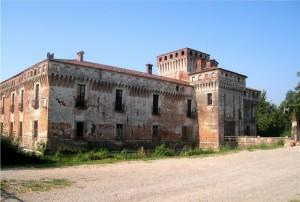 castello di padernello-la facciata-