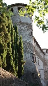 Scorcio di uno del torrione medievale del Castello Orsini