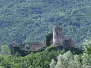 I resti del castello di San Giorio di Susa
