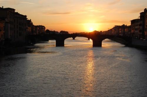 Firenze - Tramonto sull'Arno