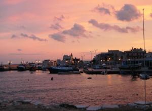 Il porto di Savelletri al tramonto
