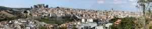 Panoramica del centro storico di Melfi
