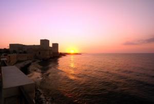 Il Castello di Trani al tramonto