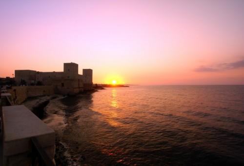 Trani - Il Castello di Trani al tramonto