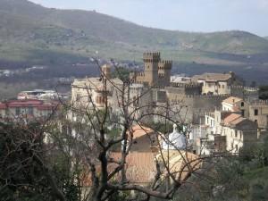 Il Castello Lancellotti visto dal nido della cinciarella.
