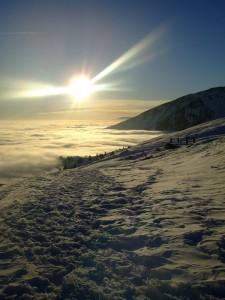 Tramonto su mare di nebbia