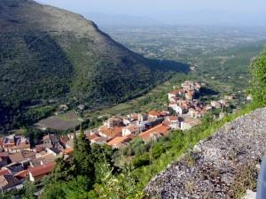 Gradevole panorama di Esperia dal castello