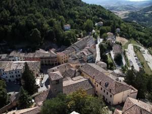 il paese visto dal castello
