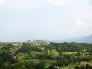 panorama di Pofi dalla piazza di Arnara