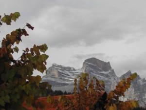 Monte Pelmo con prima neve d'autunno