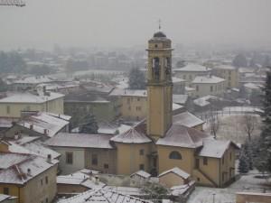 Robbiate sotto la neve