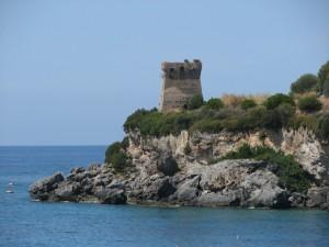 Torre di avvistamento a Marina di Camerota