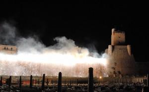 Incendio al castello svevo - Termoli